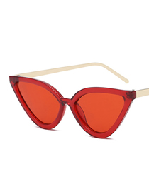 Fashion Red Frame Red Film Cat Eye Sunglasses