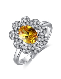 Fashion Yellow Open Ring