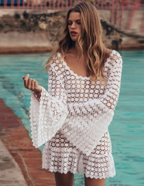 Fashion White Lace Silk Gauze Dress