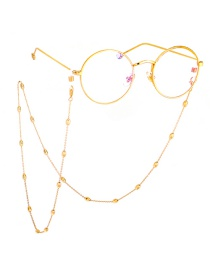 Fashion Gold Oval Beaded Copper Bead Chain