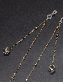 Fashion Gold Crystal Color Retention Bead Metal Chain Glasses Chain