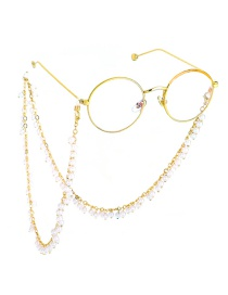 Fashion Gold Fringed 6mm Large Pearl Chain Glasses Chain