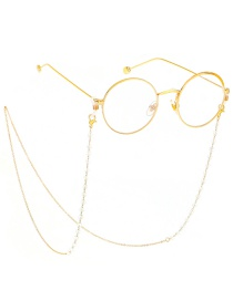Fashion Gold Transparent Crystal Chain Glasses Chain