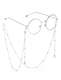 Fashion Silver Pearl Color-protecting Beaded Metal Chain Glasses Chain