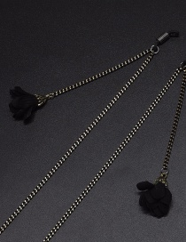 Fashion Black Hanging Neck Flower Chain Glasses Chain