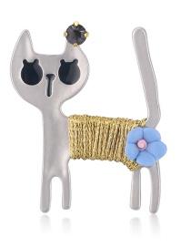 Fashion Adb Alloy Dripping Cat Brooch