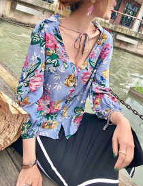 Fashion Color Floral Lace Top