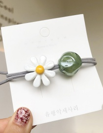 Fashion White/small Daisy Small Daisy Rubber Band