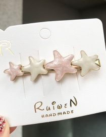 Fashion Pink Little Star Hairpin