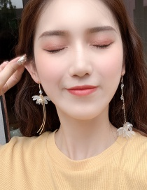 Fashion Main Color (asymmetric Earrings) Three-dimensional Flower Asymmetric Earrings