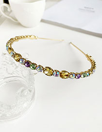 Fashion Color Alloy Diamond Color Headband