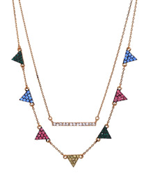 Fashion Color Diamond-studded Colorful Gradient Necklace