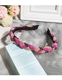 Fashion Pink Diamond + Pink Chain Twist Headband