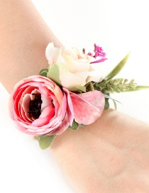 Fashion Powder Flower Weave Wreath Bracelet