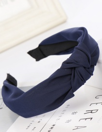 Fashion Navy Striped Wide-brimmed Headband