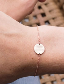 Fashion Rose Gold Gold-plated Geometric Round Stainless Steel Bracelet