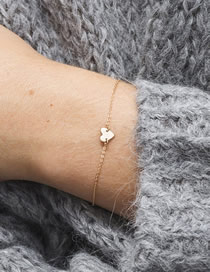 Fashion Gold Love Stainless Steel Gold-plated Bracelet