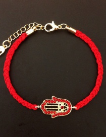 Fashion Red Braided Palm Bracelet