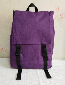 Fashion Purple Waterproof Side Buckle Foldable Storage Shoulder Bag