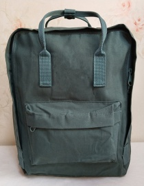 Fashion Frost Green Waterproof Canvas Backpack