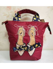 Fashion Red Wine Shoulder Diagonal Shoulder Bag