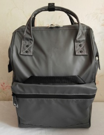 Fashion Light Grey Fully Waterproof Locomotive Backpack