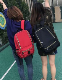 Fashion Big Red Dirty Shoes Series Nylon Backpack