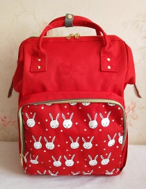 Fashion Red Oxford Cloth Handbag Multi-function Backpack