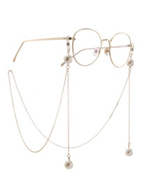 Fashion Gold Chain Hanging Neck Pearl Glasses Chain