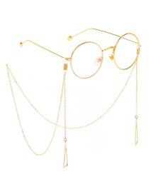 Fashion Gold Metal Triangle Glasses Chain