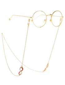 Fashion Gold Diamond Digital 8 Chain Anti-lost Metal Glasses Chain