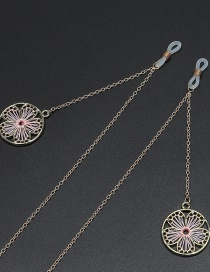 Fashion Pink Non-slip Metal Winding Plum Blossom Glasses Chain