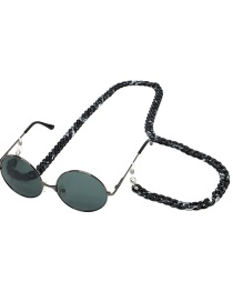 Fashion Black Leopard Two-tone Glasses Chain