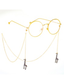 Fashion Gold Metal Giraffe Glasses Chain