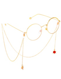Fashion Gold Metal Diamond Crown Glasses Chain