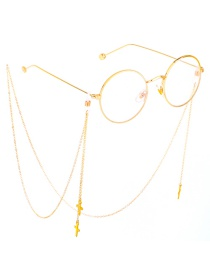 Fashion Gold Non-slip Metal Tassel Cross Glasses Chain