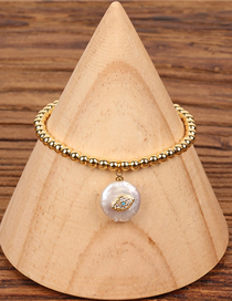 Fashion Gold Solid Gold Bead Palm Micro-inlaid Pearl Bracelet