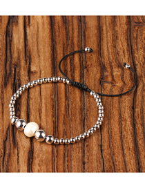 Fashion Silver Gold Plated Solid Copper Bead Adjustable Weave Freshwater Pearl Bracelet