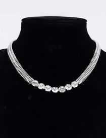 Fashion Silver Diamond Necklace