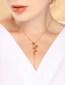 Fashion Gold Star Gold Plated Necklace