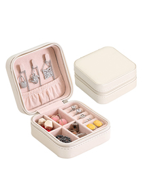 Fashion Single Layer White Pu Single Layer Jewelry Box