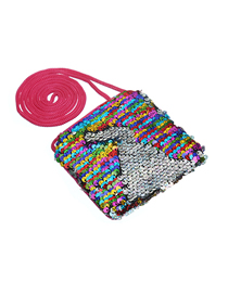 Fashion Multicolored Children's Cartoon Sequin Shoulder Messenger Bag