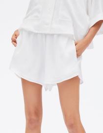 Fashion White Draw Shorts