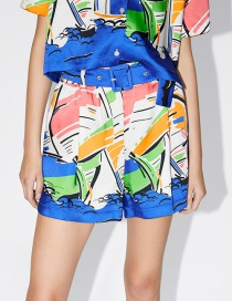 Fashion Color Printed Shorts