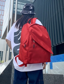 Fashion Red Pleated Backpack