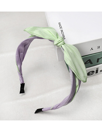 Fashion Green Bow Knotted Color Fabric Headband