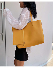 Fashion Yellow One-shoulder Portable Messenger Bag