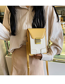 Fashion Yellow Contrast Shoulder Shoulder Bag