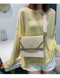 Fashion White Chain Scrub Shoulder Bag Crossbody Bag