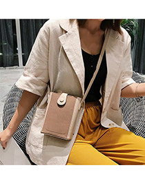 Fashion Khaki Contrast Shoulder Shoulder Bag